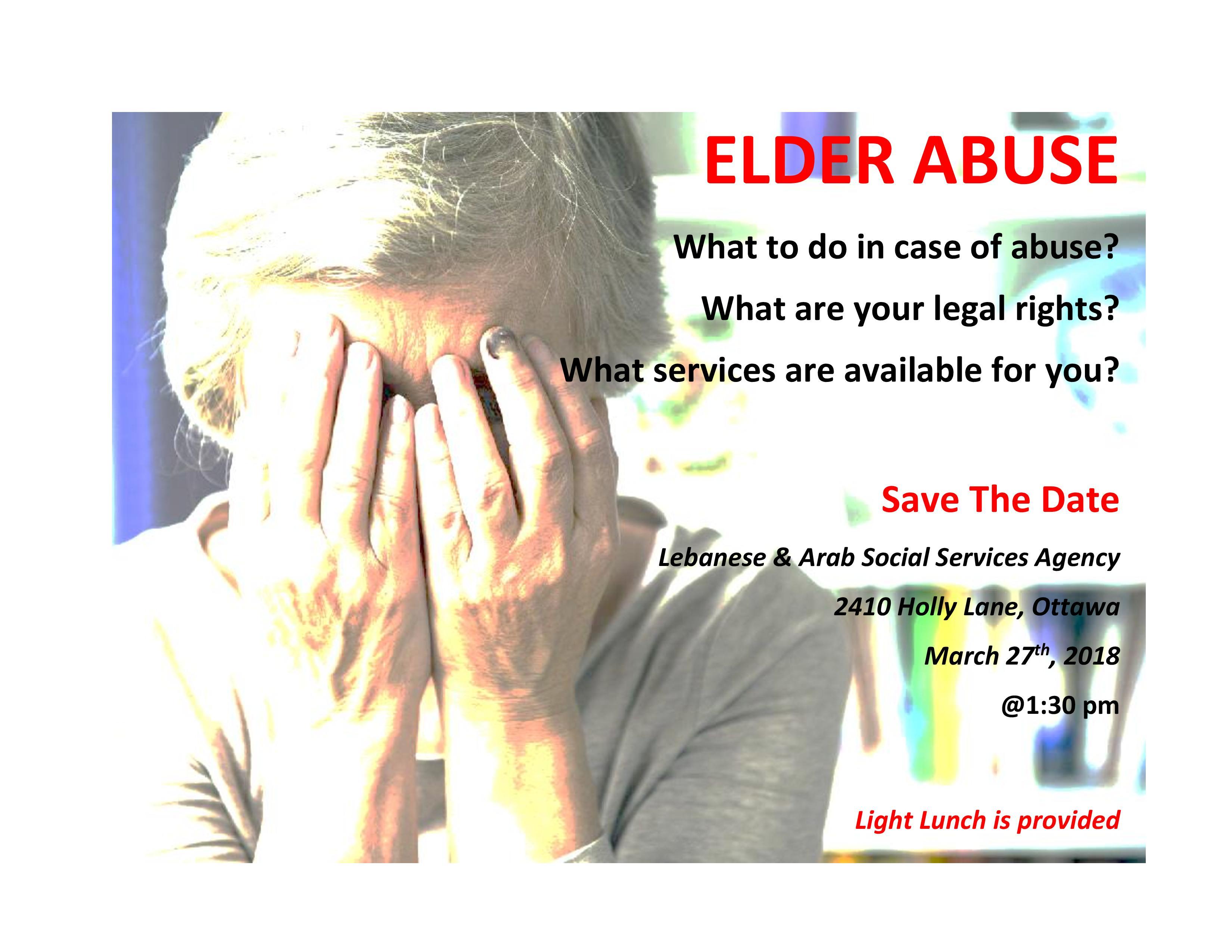 Elder Abuse Info Session @ LASSA | Ottawa | Ontario | Canada